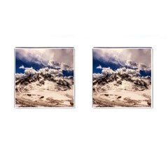Italy Landscape Mountains Winter Cufflinks (square)
