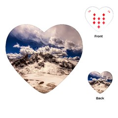 Italy Landscape Mountains Winter Playing Cards (heart)  by BangZart