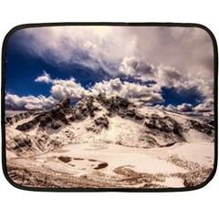 Italy Landscape Mountains Winter Double Sided Fleece Blanket (mini)