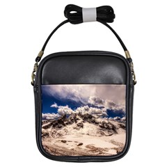 Italy Landscape Mountains Winter Girls Sling Bags by BangZart