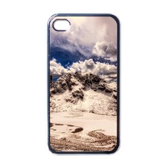 Italy Landscape Mountains Winter Apple Iphone 4 Case (black)