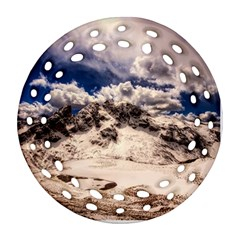 Italy Landscape Mountains Winter Ornament (round Filigree)
