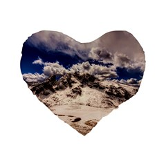 Italy Landscape Mountains Winter Standard 16  Premium Heart Shape Cushions by BangZart
