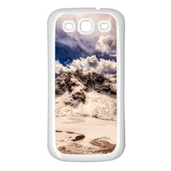 Italy Landscape Mountains Winter Samsung Galaxy S3 Back Case (white)