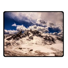 Italy Landscape Mountains Winter Double Sided Fleece Blanket (small)  by BangZart