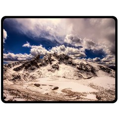 Italy Landscape Mountains Winter Double Sided Fleece Blanket (large)  by BangZart