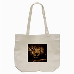 Jaguar Water Stalking Eyes Tote Bag (cream) by BangZart