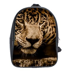 Jaguar Water Stalking Eyes School Bag (large)