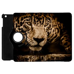 Jaguar Water Stalking Eyes Apple Ipad Mini Flip 360 Case