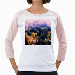 Landscape Fog Mist Haze Forest Girly Raglans