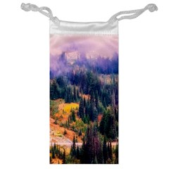 Landscape Fog Mist Haze Forest Jewelry Bag by BangZart