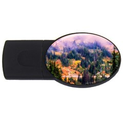 Landscape Fog Mist Haze Forest Usb Flash Drive Oval (4 Gb) by BangZart