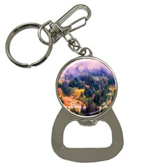 Landscape Fog Mist Haze Forest Button Necklaces