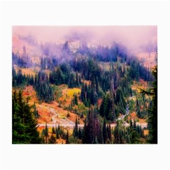 Landscape Fog Mist Haze Forest Small Glasses Cloth (2 Side) by BangZart