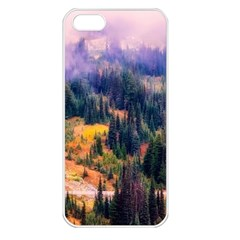 Landscape Fog Mist Haze Forest Apple Iphone 5 Seamless Case (white)