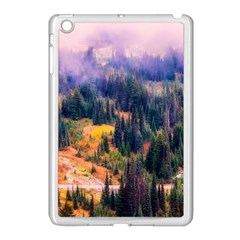 Landscape Fog Mist Haze Forest Apple Ipad Mini Case (white)