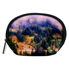 Landscape Fog Mist Haze Forest Accessory Pouches (medium)  by BangZart