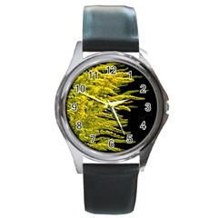 Golden Rod Gold Diamond Round Metal Watch