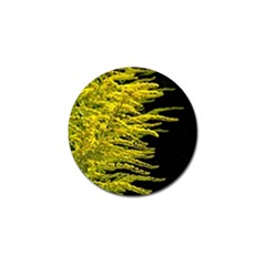 Golden Rod Gold Diamond Golf Ball Marker
