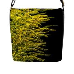 Golden Rod Gold Diamond Flap Messenger Bag (l)