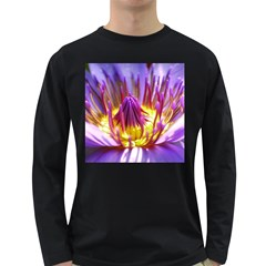 Flower Blossom Bloom Nature Long Sleeve Dark T Shirts