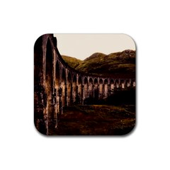 Viaduct Structure Landmark Historic Rubber Square Coaster (4 Pack)