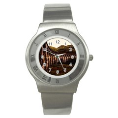 Viaduct Structure Landmark Historic Stainless Steel Watch