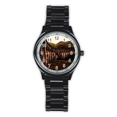 Viaduct Structure Landmark Historic Stainless Steel Round Watch