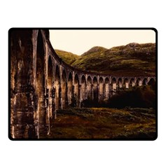 Viaduct Structure Landmark Historic Double Sided Fleece Blanket (small)