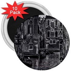 Venice Italy Gondola Boat Canal 3  Magnets (10 Pack)