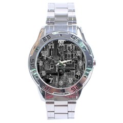 Venice Italy Gondola Boat Canal Stainless Steel Analogue Watch