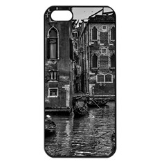 Venice Italy Gondola Boat Canal Apple Iphone 5 Seamless Case (black)