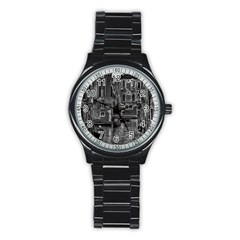 Venice Italy Gondola Boat Canal Stainless Steel Round Watch by BangZart