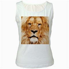 Africa African Animal Cat Close Up Women s White Tank Top
