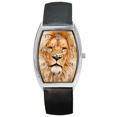 Africa African Animal Cat Close Up Barrel Style Metal Watch