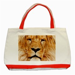 Africa African Animal Cat Close Up Classic Tote Bag (red)