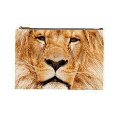 Africa African Animal Cat Close Up Cosmetic Bag (large)  by BangZart