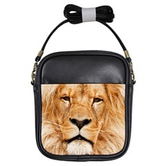 Africa African Animal Cat Close Up Girls Sling Bags by BangZart