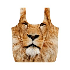 Africa African Animal Cat Close Up Full Print Recycle Bags (m)