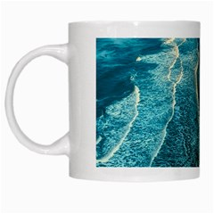 Sea Ocean Coastline Coast Sky White Mugs