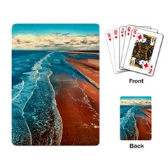 Sea Ocean Coastline Coast Sky Playing Card