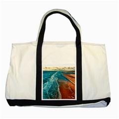 Sea Ocean Coastline Coast Sky Two Tone Tote Bag