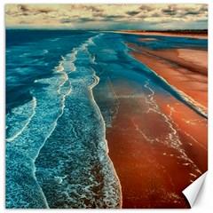 Sea Ocean Coastline Coast Sky Canvas 16  X 16