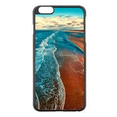 Sea Ocean Coastline Coast Sky Apple Iphone 6 Plus/6s Plus Black Enamel Case by BangZart