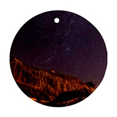 Italy Cabin Stars Milky Way Night Ornament (round) by BangZart
