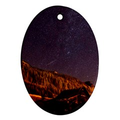 Italy Cabin Stars Milky Way Night Oval Ornament (two Sides)