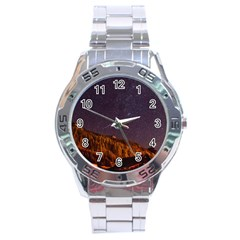Italy Cabin Stars Milky Way Night Stainless Steel Analogue Watch