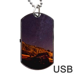 Italy Cabin Stars Milky Way Night Dog Tag Usb Flash (one Side)