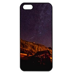 Italy Cabin Stars Milky Way Night Apple Iphone 5 Seamless Case (black) by BangZart