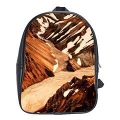 Iceland Mountains Snow Ravine School Bag (large)